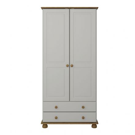 GREY - 2 DR COMBI WARDROBE